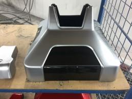 Pour le robot de téléprésence Ubbo d'Axyn robotique, nous avons conçu coque & support.