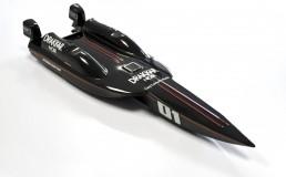 En ABS 3mm noir, look carbone, aluminium brossé ou titanium.