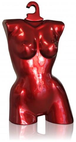 Buste mannequin en ABS, finition peinture métallisée, vernis.